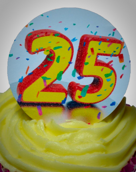 Edible cake toppers decoration - Number 25